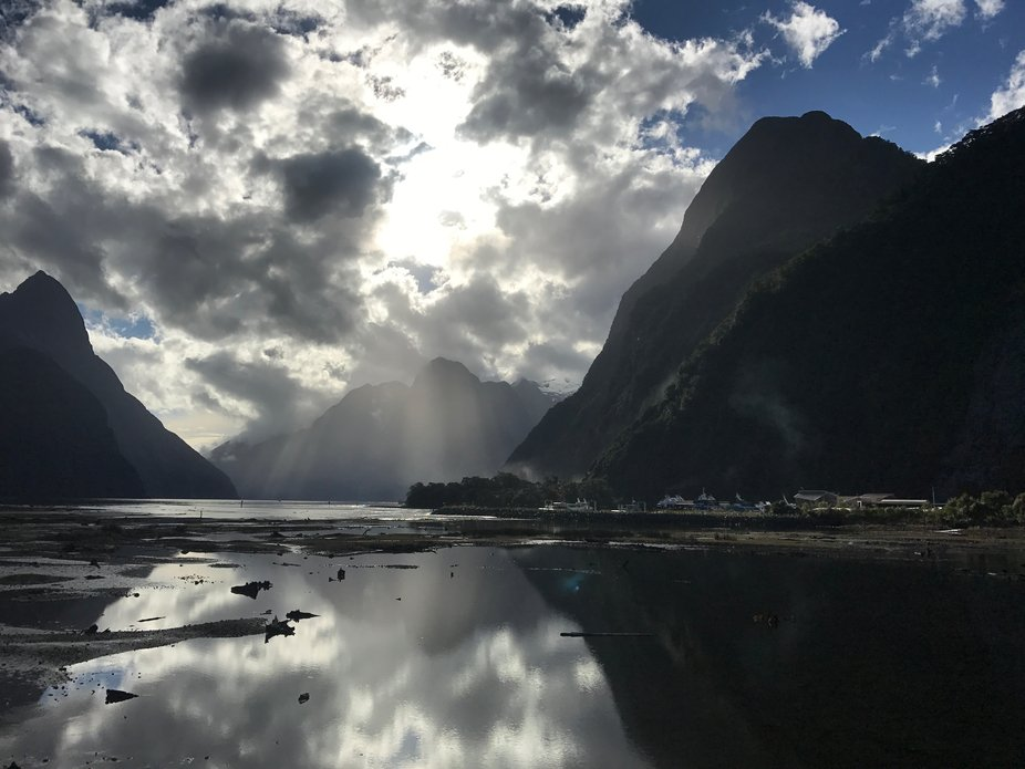 My first  photo I ever took in the beautiful Milford Sound.