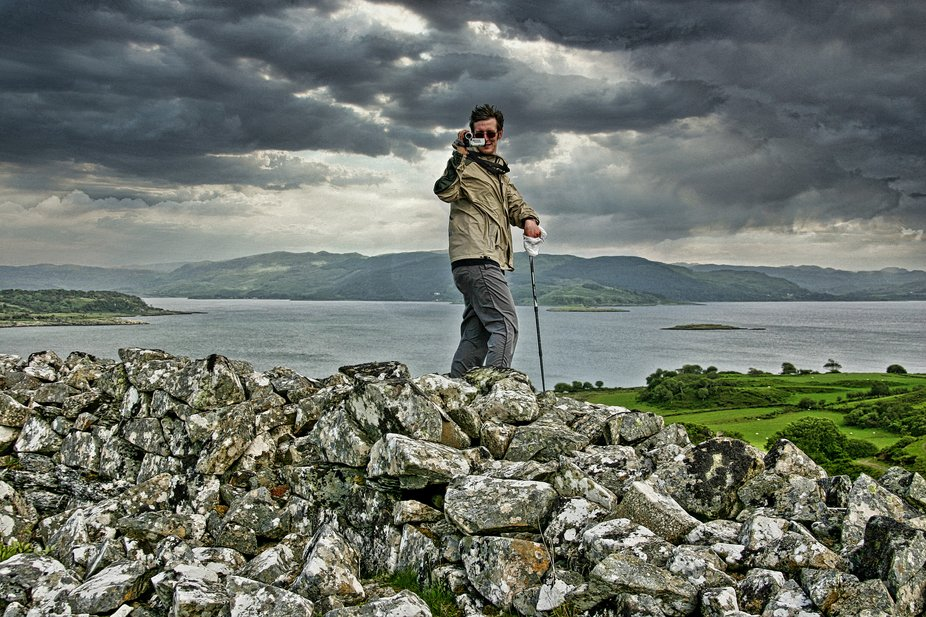 Bronze age Hill fort on Isle of Luing in Scotland