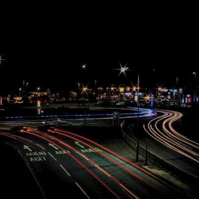 Long exposure roundabout