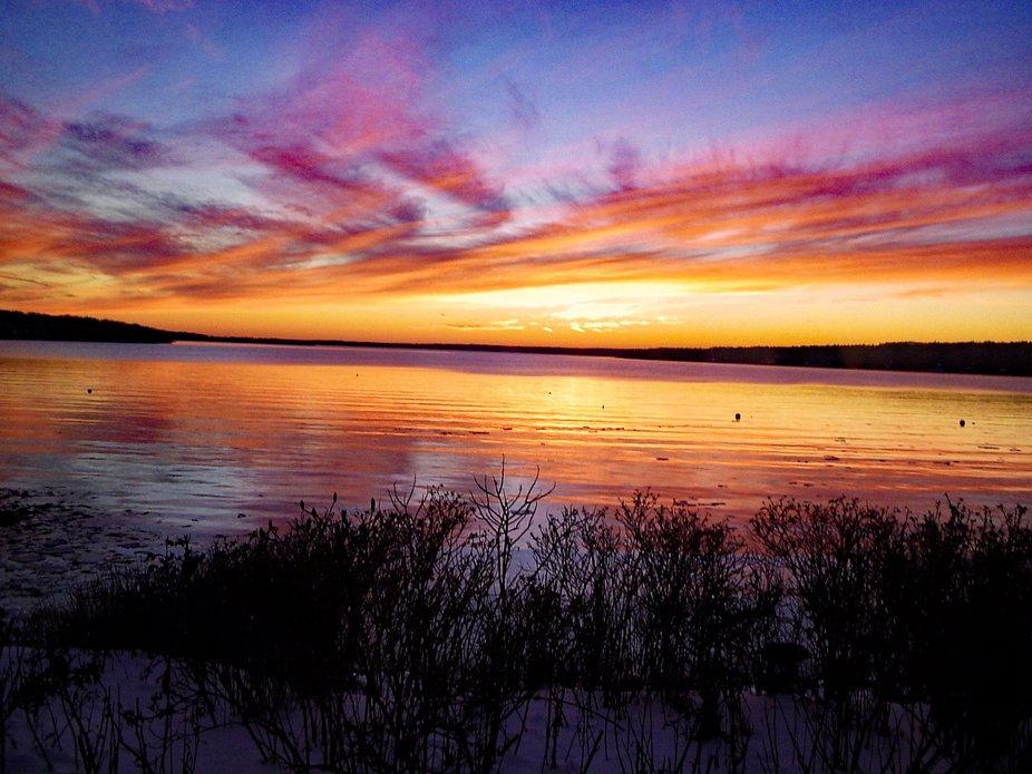 Sunset over Linekin Bay