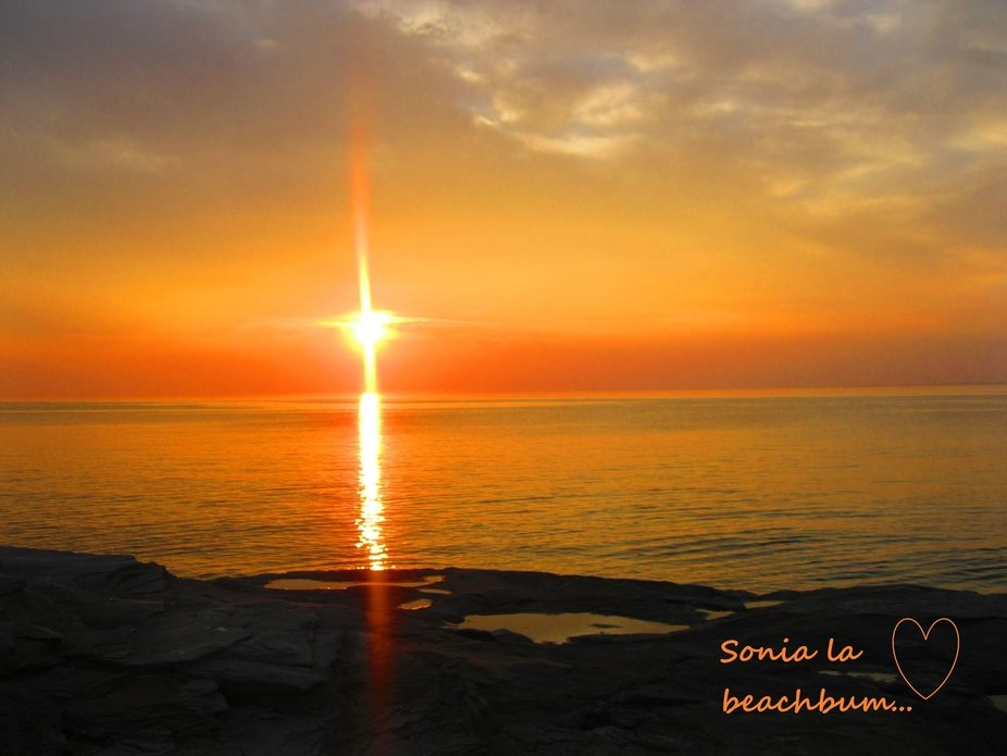 My Country, my Hometown, my Soul...  Summer sunset in Grande-Anse, NB Canada few years ago...