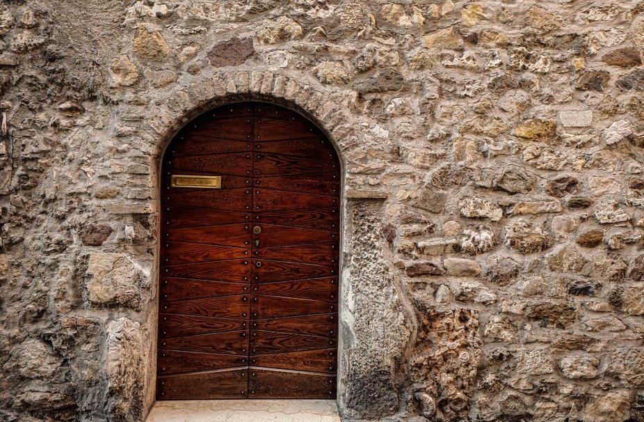 Classic door in brown