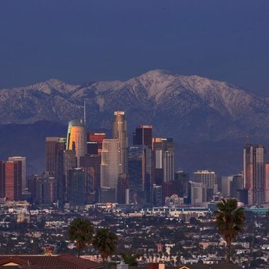 Los Angeles with snow capped mountain IMG_2538