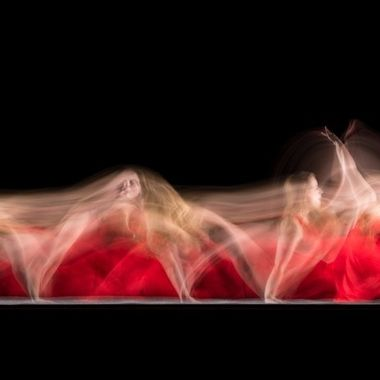Long exposure photography with dancer Michelle Arkesteijn.
