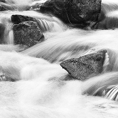 I love shooting water in long exposures and here I just love the transition to black & white