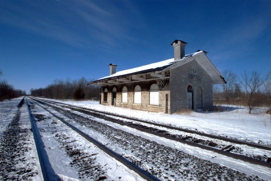 Ernestown Train Station, from the Vanishing Ontario series