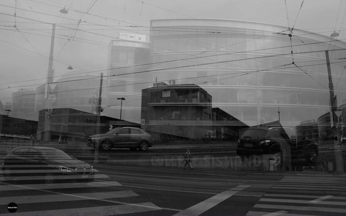 a fast double exposure i wanted to have that person walking in the right composition of the photo ... the photo created in the photo in the instant moment no post production on it
