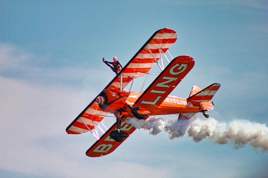 Breitling Wing walker captured at Sunderland air show.