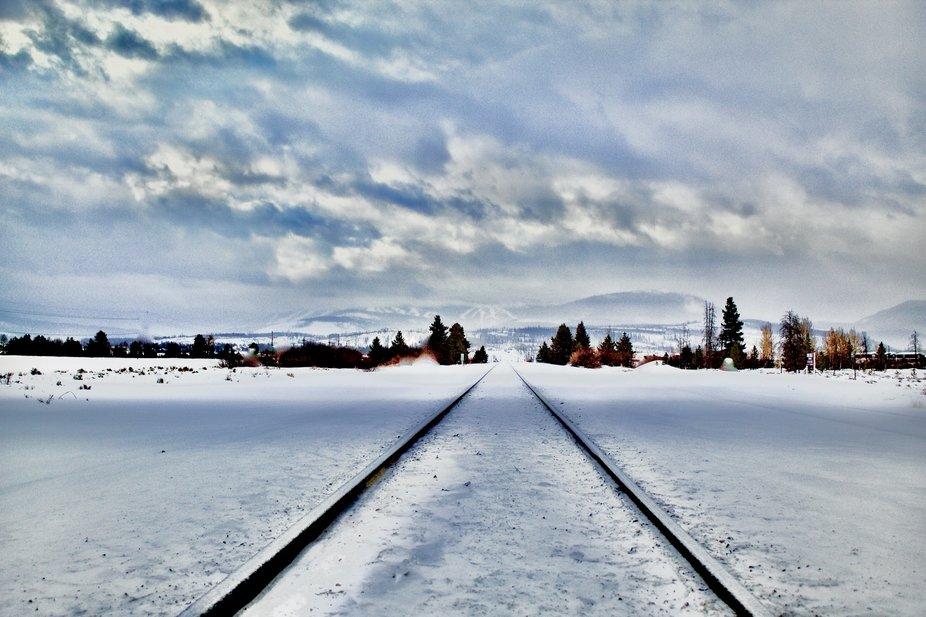 Train tracks that go to Fraser, Colorado