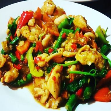 Spicy Thai Basil Chicken, a welcoming dish.