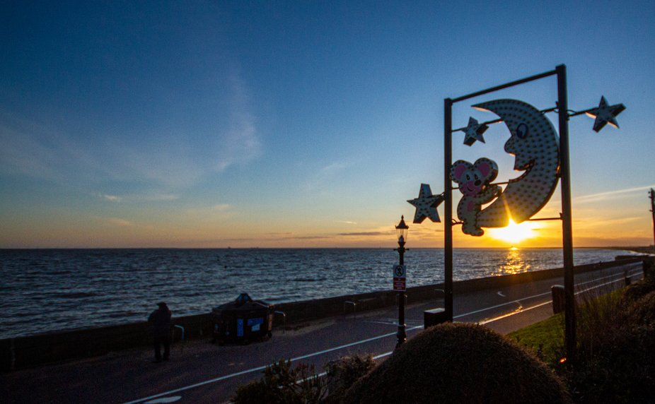 The Famous Mouse & Moon along Cleethorpes Sea Front.