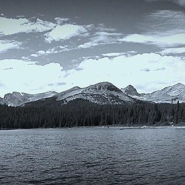 The Continental Divide Near Breckinridge, Colorado,  USA Twin Lakes.