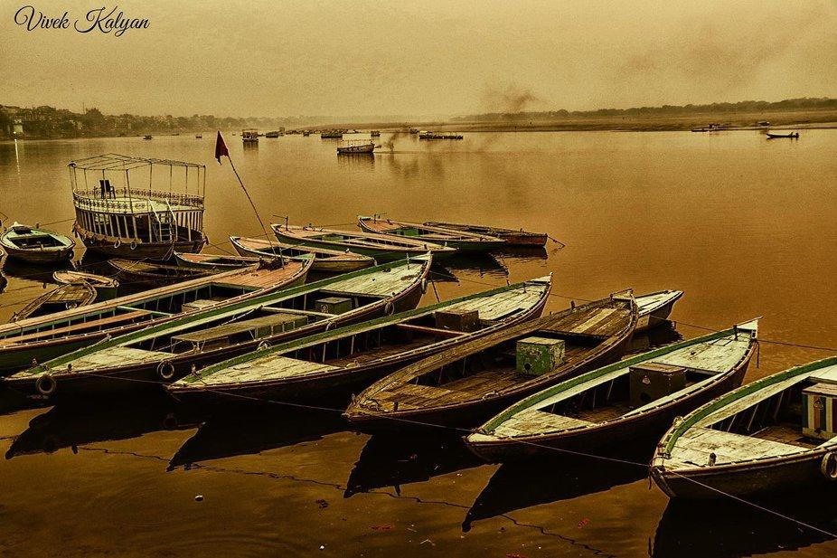 Shot clicked in the morning on the banaras ghats #banaras #varanasi #ghats #ganges #ganga #boats ...