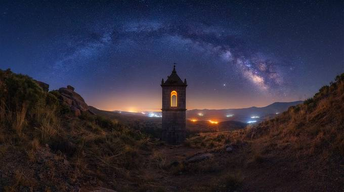 Night in the monastery II by Juliocastropardo - The Vast Milky Way Photo Contest