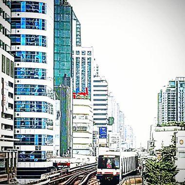Asok BTS Station, Bangkok, Thailand.