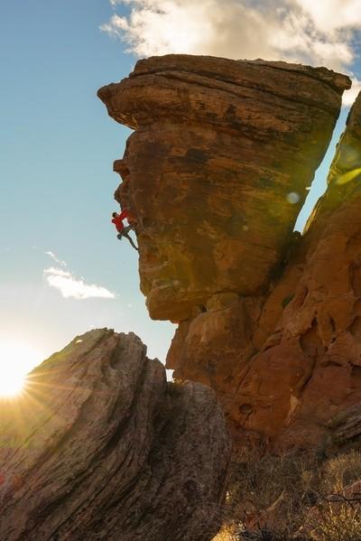 Sunset Climbing