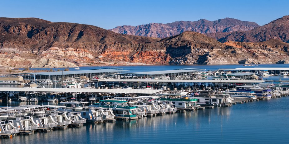 Callville Bay and marina in Lake Mead National Recreation Area on the Nevada side of the lake.