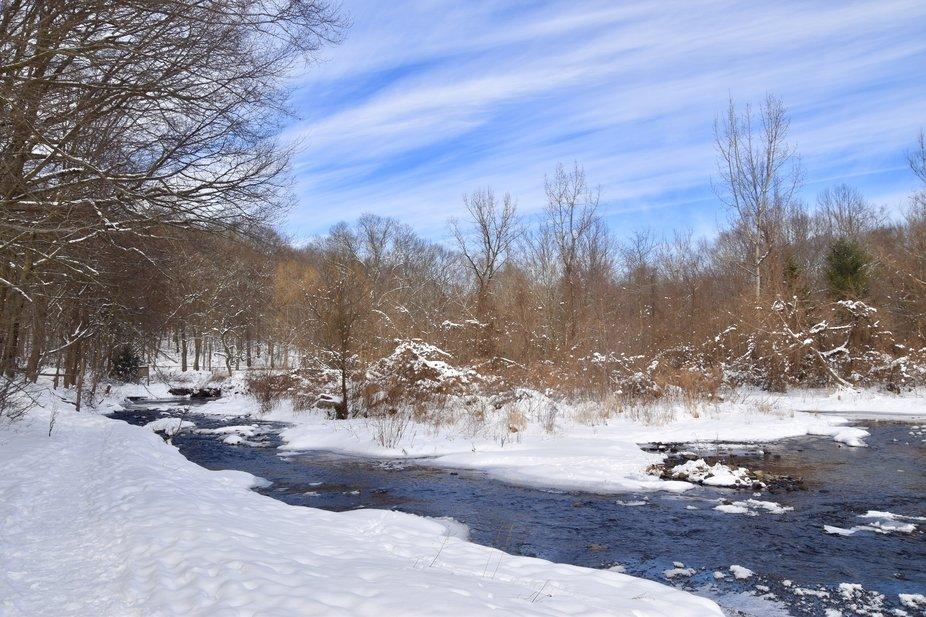Mill River in Winter