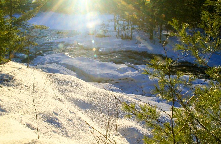 High Falls - Winter golden hour