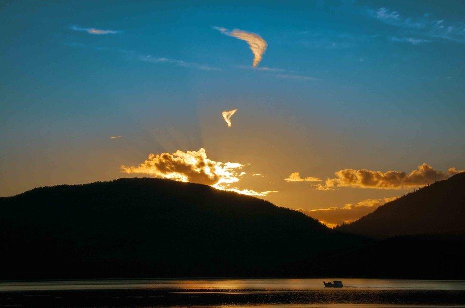 Fishing boat silhouette