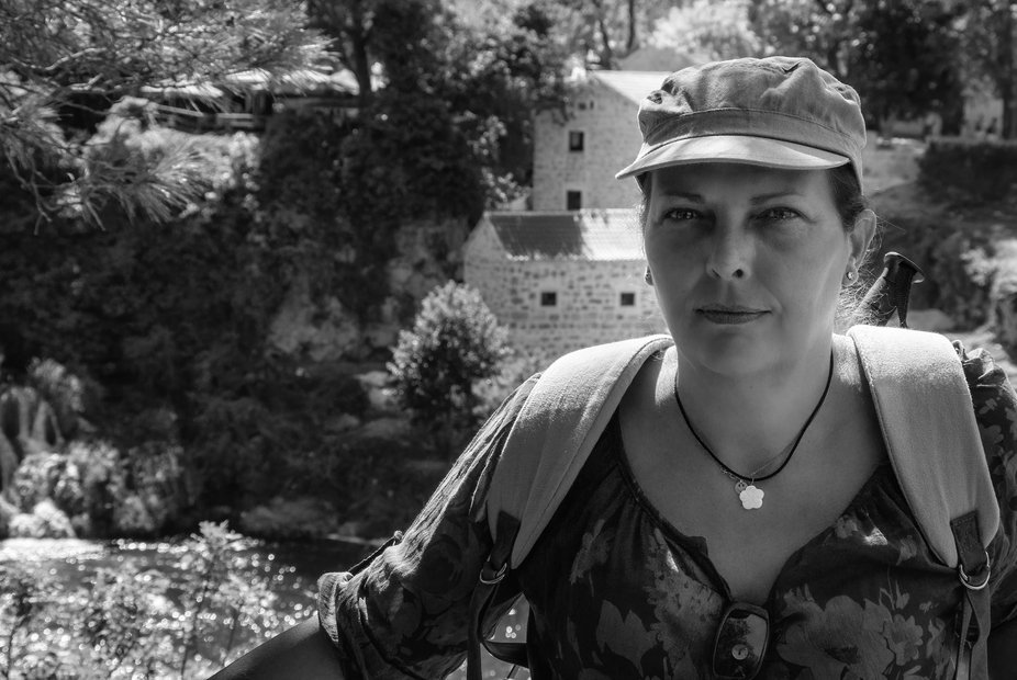 This is a portrait of my partner, Corine, taken in Krka National Park in Croatia. A country that we love very much for its parks and islands as well as its rich history.