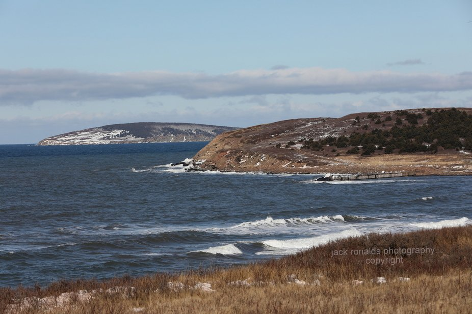 The view from Broad Cove to Margaree Island on Cape Bretons western coast. winter 2021
