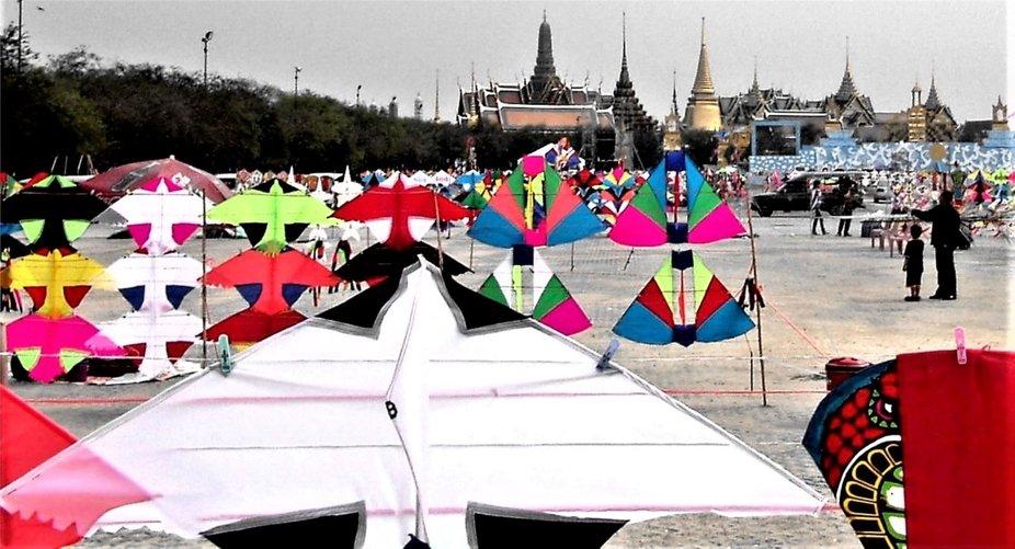 Festival arrangement in the center of the Thai capital