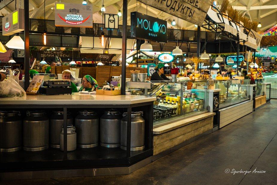 Danilovsky Food Market in Moscow, Russia.