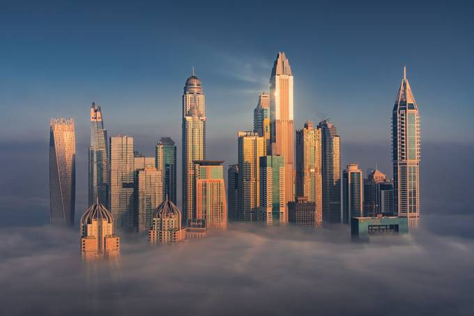 Dubai Above The Clouds by albertdros - Image Of The Month Photo Contest Vol 66