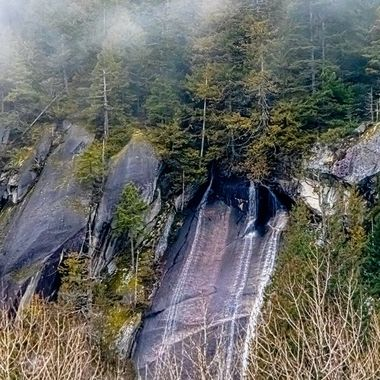 In the winter months, these falls are much smaller