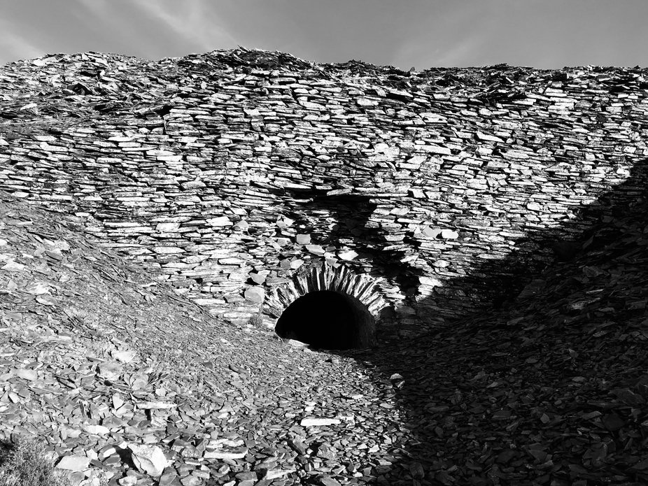 An old tunnel in the Slate Quarry.