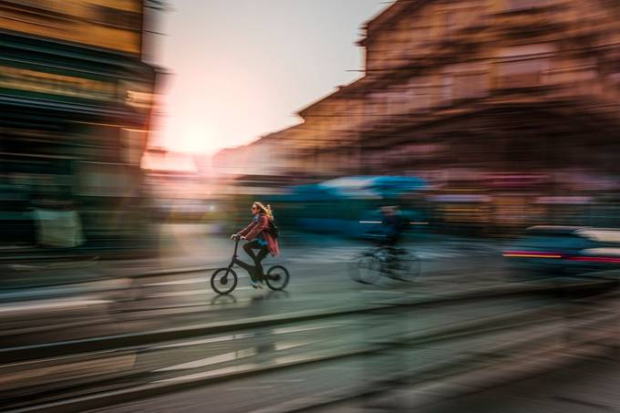 City pace II by tadejturk - The Art Of Panning Photo Contest