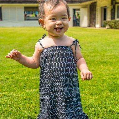 girls first birthday grin
