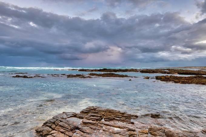 Rainy seascape