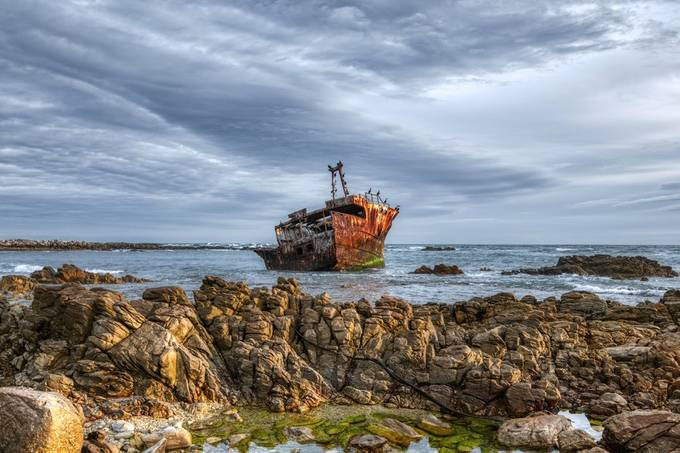 Wreck and Rocks