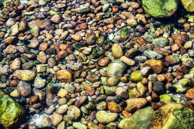 Rocks under water