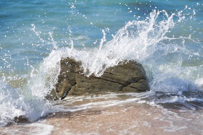 Splash over rock
