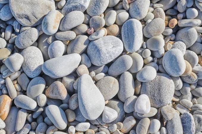 Pebbles at the shore