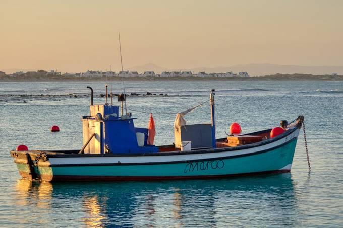 Golden hour boat