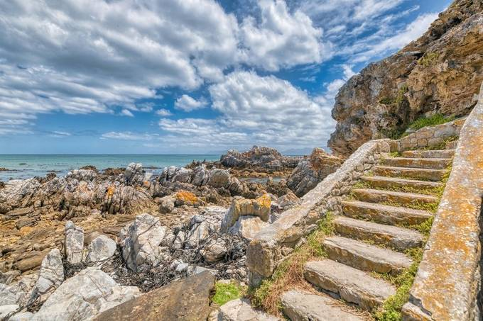 Stairs on the shore