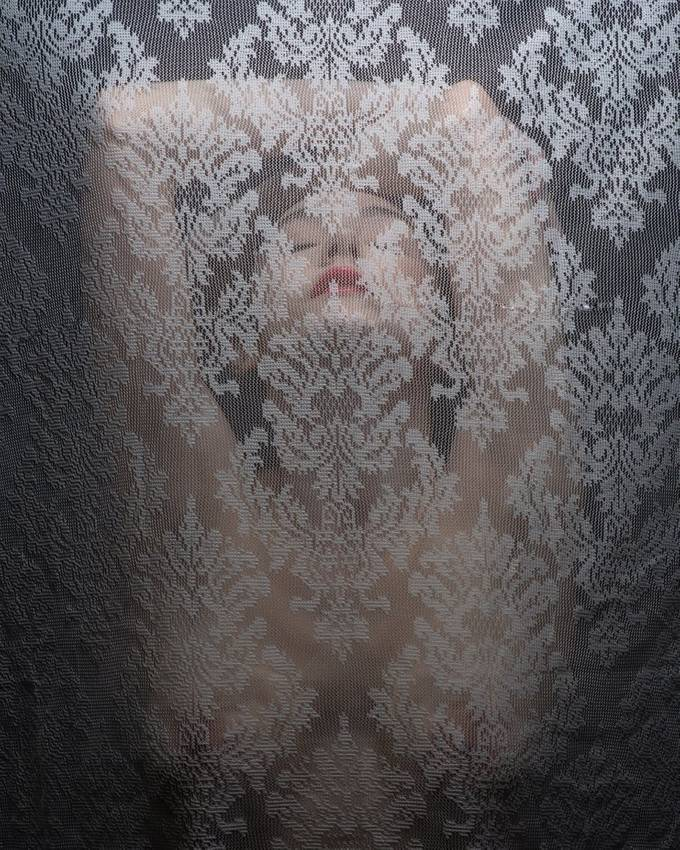 Art model Audrey Benoit in this ghostly nude.