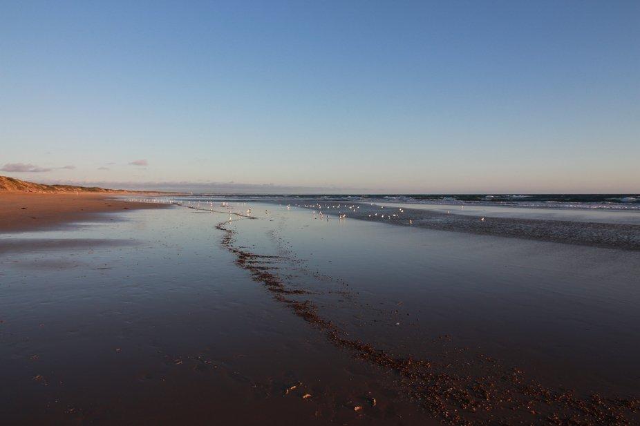 ocean grove  beach at dusk