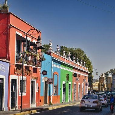 Colourfull houses in Cholula