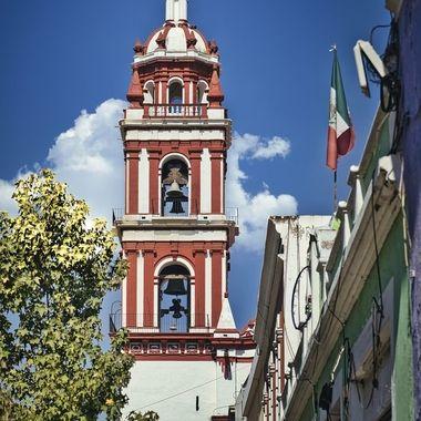 Church near the market of Cholula
