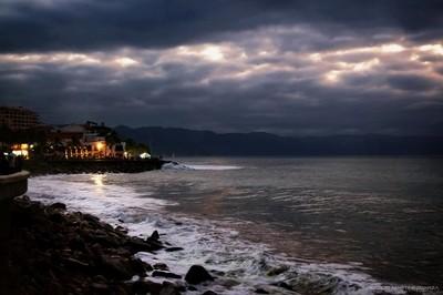 Ominous skies over Puerto Vallarta