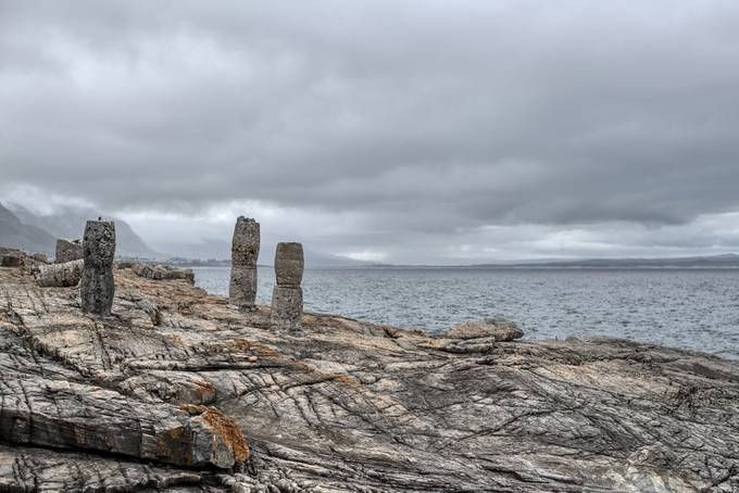 Seascape from the old harbour in hermanus