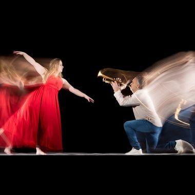 Long exposure photography with dancer Michelle Arkesteijn / @dancingmies and trumpeter Ronald Arkesteijn