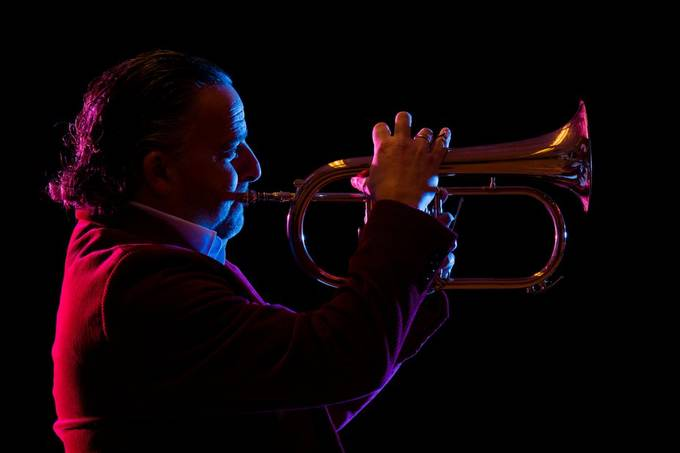 Portrait session with trumpeter Ronald Arkesteijn.