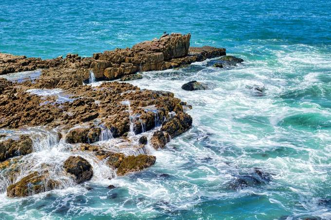 Ocean rocks from above