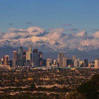LA downtown with snow on My Baldy IMG_9084